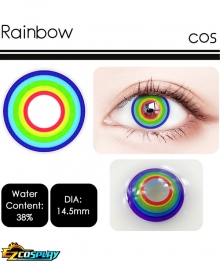 Rainbow Muticolor Colorful Cosplay Contact Lense