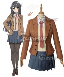 Rascal Does Not Dream Of Bunny Girl Senpai Seishun Buta Yarou Wa Bunny Girl Senpai No Yume Wo Minai Mai Sakurajima Cosplay Costume