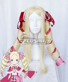 Re: Life In A Different World From Zero Beatrice Light Golden Pink Cosplay Wig - Only Wig