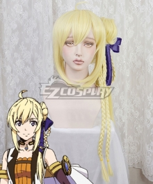 Record of Grancrest War Grancrest Senki Siluca Meletes Golden Cosplay Wig