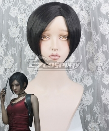 Resident Evil Biohazard: Re 2 Ada Wong Black Cosplay Wig
