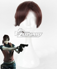 Resident Evil The Darkside Chronicles Claire Redfield Brown Cosplay Wig