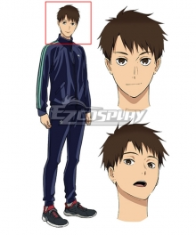 Run with the Wind Kaze ga Tsuyoku Fuiteiru Haiji Kiyose Brown Cosplay Wig