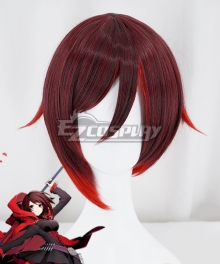 RWBY Ruby Rose New Edition  Black Red Cosplay Wig