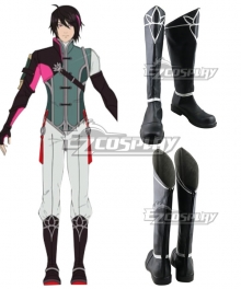 RWBY Volume 7 Lie Ren Black Shoes Cosplay Boots
