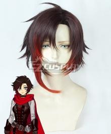 RWBY Volume 7 Ruby Rose Black Red Cosplay Wig