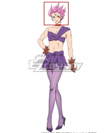 Sailor Moon Eternal Hawk's Eye Purple Cosplay Wig