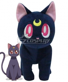 Sailor Moon Luna Plush Doll Cosplay Accessory Prop