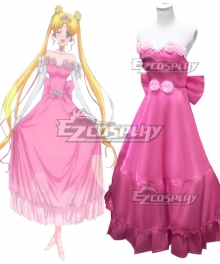 Sailor Moon Usagi Tsukino  Pink Dress Cosplay Costume