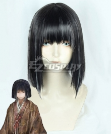 Sekiro:Shadows Die Twice Kuro the Divine Heir Black Cosplay Wig