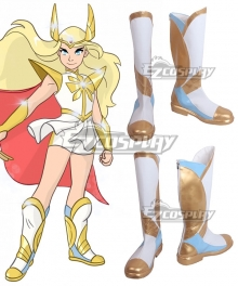 She-Ra and the Princesses of Power Adora She-Ra Golden White Shoes Cosplay Boots