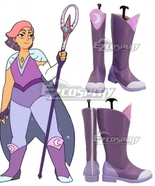 She-Ra and the Princesses of Power Season 4 Glimmer Purple Shoes Cosplay Boots