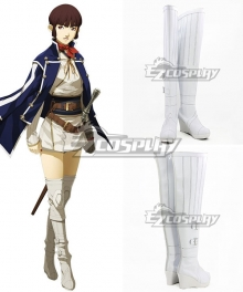 Shin Megami Tensei IV Isabeau White Shoes Cosplay Boots