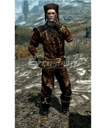 Skyrim The Elder Scrolls Dark Brotherhood Keeper Cicero Cosplay Costume