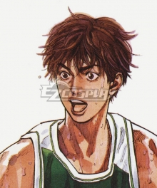 Slam Dunk Fujima Kenji Brown Cosplay Wig