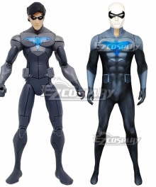 DC Son of Batman Nightwing Zentai Jumpsuit Cosplay Costume