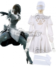 Soul Calibur 6 2B White Dress Cosplay Costume