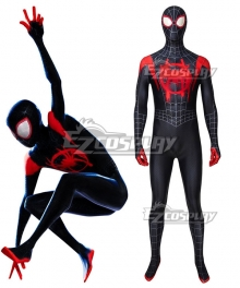 Spider-Man: Into the Spider-Verse  Miles Morales Zentai Jumpsuit Cosplay Costume