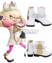 Splatoon 2 Off the Hook Pearl White Shoes Cosplay Boots