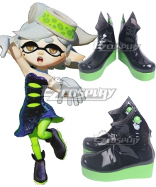 Splatoon 2 Squid Sisters Callie Black Shoes Cosplay Boots