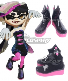 Splatoon 2 Squid Sisters Marie Black Shoes Cosplay Boots