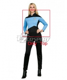 Star Trek Next Generation Blue Jumpsuit Deluxe Adult Cosplay Costume - Only Top