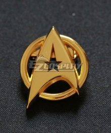 Star Trek Pin Badge The Next Generation Screen Accurate Communicator Insignia Gold Pin Badge Brooch Cosplay Accessory Prop