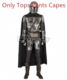 Star War The Mandalorian Boba Fett Cosplay Costume - Only Tops Pants Capes