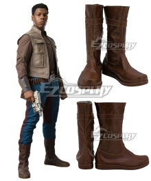 Star Wars 9 The Rise of Skywalker Finn Brown Shoes Cosplay Boots