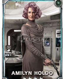 Star Wars Amilyn Holdo Cosplay Costume