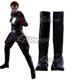 Star Wars Jedi: Fallen Order Cal Kestis Black Shoes Cosplay Boots