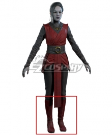 Star Wars Jedi:Fallen Order Merrin Nightsister Red Shoes Cosplay Boots