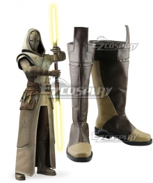 Star Wars Jedi Temple Guard Brown Cosplay Shoes