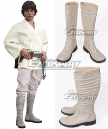 Star Wars Luke Skywalker White Shoes Cosplay Boots