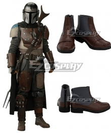 Star Wars Mandalorian Uniform Brown Cosplay Shoes