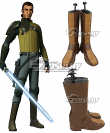 Star Wars Rebels Kana Jarrus Brown Shoes Cosplay Boots