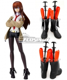 Steins; Gate Steins Gate Kurisu Makise Black Shoes Cosplay Boots