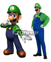 Super Mario Bros Luigi Mario Adult Cosplay Costume
