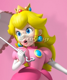 Super Mario Bros Princess Peach Earrings Cosplay Accessory Prop