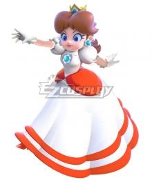 Super Mario Fire Flower Deluxe Daisyette Princess Daisy Cosplay Costume