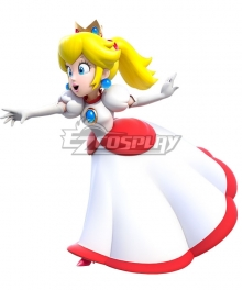 Super Mario Fire Flower Princess Peach Cosplay Costume