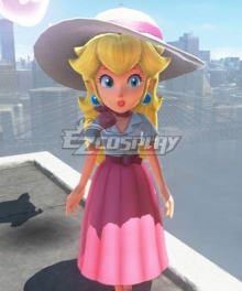 Super Mario Princess Peach Odyssey Travel Cosplay Costume