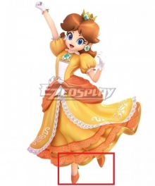 Super Smash Bros. Super Mario Princess Daisy Orange Cosplay Shoes