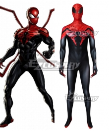Superior Spider-Man Black Red Superior Spiderman Zentai Jumpsuit Cosplay Costume