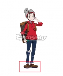 Pokemon Pokémon Sword And Pokémon Shield Male Trainer Brown Cosplay Shoes