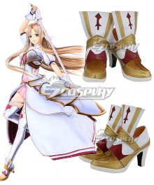 Sword Art Online Alicization Lycoris Yukki Asuna Yuki Asuna White Cosplay Shoes