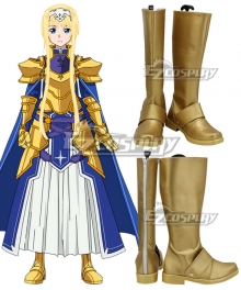Sword Art Online Alicization SAO Alice Gold Shoes Cosplay Boots