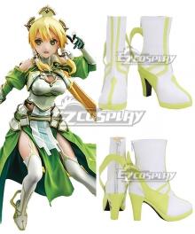 Sword Art Online Alicization SAO Kirigaya Suguha Leafa White Shoes Cosplay Boots