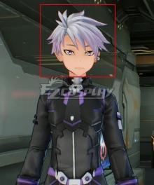 Sword Art Online: Fatal Bullet Male Protagonist Black Purple Skin Cosplay Wig