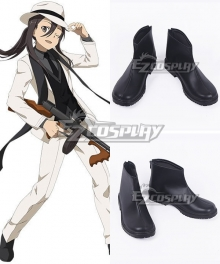 Sword Art Online Kirigaya Kazuto Kirito Black Cosplay Shoes